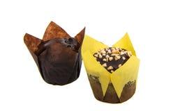 isolerade små muffin Royaltyfri Foto