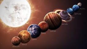 Isolerade solsystemplaneter för höjd kvalitet royaltyfri illustrationer