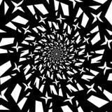 Isolerade spiral av stjärnasexhörningar på bakgrund för vit fyrkant vektor för bild för designelementillustration Royaltyfria Foton