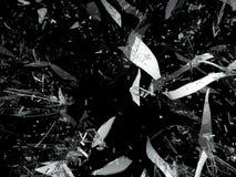 Isolerade splittrade eller skadade stycken av exponeringsglas Royaltyfri Fotografi