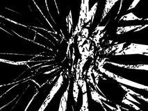 Isolerade splittrade eller slog stycken av svart exponeringsglas Royaltyfria Bilder