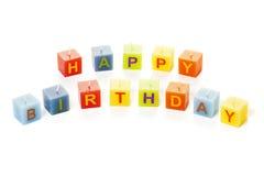 Isolerade stearinljus för lycklig födelsedag Arkivfoton