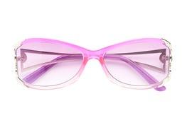 Isolerade stilfulla rosa kvinnliga exponeringsglas royaltyfri foto