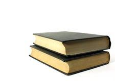 isolerade svarta böcker Royaltyfri Foto