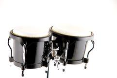 isolerade svarta bongos för bakgrund white Royaltyfri Foto