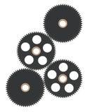 isolerade svarta kugghjul Arkivfoton