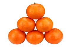 isolerade tangerines Royaltyfria Bilder
