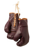 Isolerade tappningboxninghandskar Royaltyfri Fotografi
