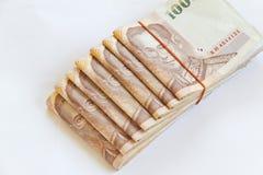 Isolerade thailändska pengar fotografering för bildbyråer