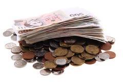 Isolerade tjeckiska pengar Arkivfoton