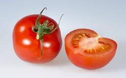 isolerade tomater för bakgrund up closen white Royaltyfria Bilder