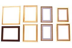 Isolerade tomma målningramar Fotografering för Bildbyråer