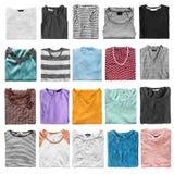 Isolerade vikta skjortor Arkivbild