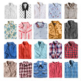 Isolerade vikta skjortor Royaltyfria Bilder