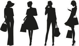 isolerade vita kvinnor för bakgrund mode Arkivfoton