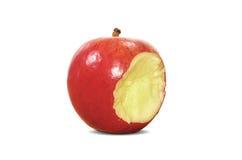 isolerat äpple Arkivbild