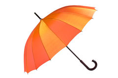 isolerat öppet paraply Arkivfoto