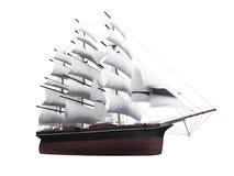 isolerat över seglingshipwhite vektor illustrationer