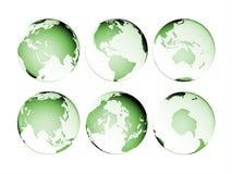 isolerat översiktsplanet för jord jordklot Royaltyfri Fotografi