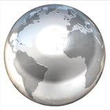 isolerat abstrakt jordklot 3d royaltyfri illustrationer