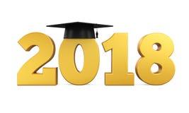 Isolerat avläggande av examenlock 2018 Royaltyfria Foton