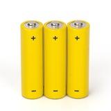 Isolerat batteri Arkivbild