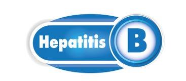 Isolerat begrepp för hepatit B Blått buktar bakgrund royaltyfri illustrationer