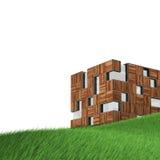 Isolerat begrepp på gräs vektor illustrationer