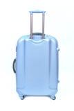 Isolerat blått bagage royaltyfria foton