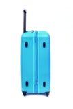 Isolerat blått bagage royaltyfri bild
