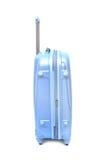 Isolerat blått bagage royaltyfri fotografi