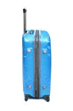 Isolerat blått bagage royaltyfria bilder