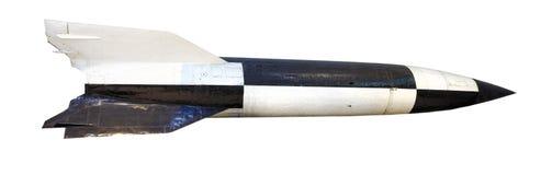 Isolerat bombardera raket Fotografering för Bildbyråer