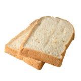 isolerat bröd skivar två Arkivbild