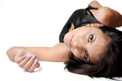 isolerat brunettmode Fotografering för Bildbyråer