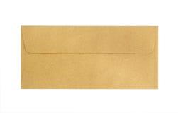isolerat brunt kuvert Arkivfoto