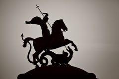 Isolerat bylte för George monument moscow arkivbild