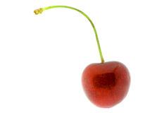isolerat Cherry 10 Royaltyfri Foto