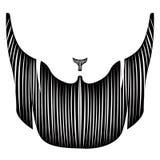 Isolerat detaljerat skägg royaltyfri illustrationer