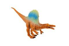 Isolerat diagram för Spinosaurs dinosaurieleksak på vit bakgrund Royaltyfri Fotografi