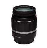 Isolerat DSLR-zoomobjektiv med UV mm för filter 18-55 Royaltyfria Foton