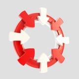 Isolerat emblem för piluppmärksamhetsymbol Royaltyfri Foto
