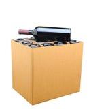 Isolerat fall av Wine arkivbilder