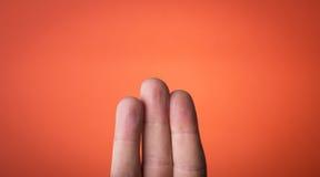 Isolerat finger som du kan dra på Royaltyfria Foton
