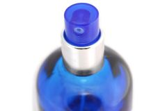 isolerat flaskexponeringsglas royaltyfria bilder