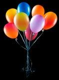 isolerat flyga för ballonger Royaltyfri Fotografi