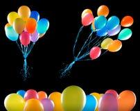 isolerat flyga för ballonger Royaltyfria Bilder