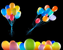 isolerat flyga för ballonger Royaltyfri Foto