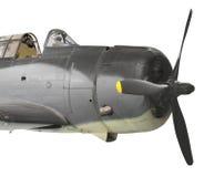 Isolerat flygplan för tappningdykbombplan Royaltyfri Fotografi
