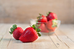 Isolerat från jordgubbar Royaltyfri Fotografi